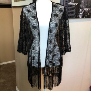 Stunning Saks Fifth Ave Open Knit Top